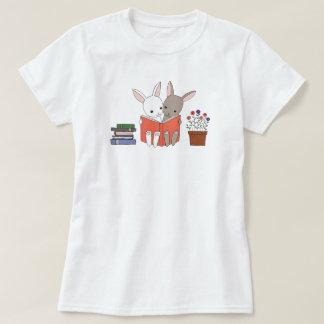 Bunny Reading Book T-shirt Cute Bunnies Book Lover