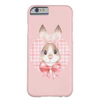 Bunny. Red bow Barely There iPhone 6 Case