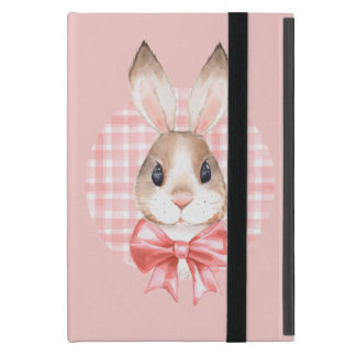 Bunny. Red bow iPad Mini Cover