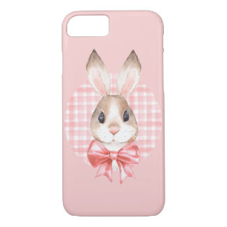 Bunny. Red bow iPhone 7 Case