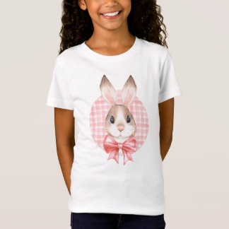 Bunny. Red bow T-Shirt