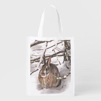 Bunny Seeking Shelter Reusable Grocery Bag