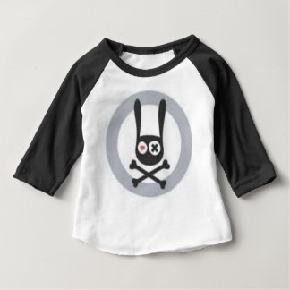 Bunny Skull and Crossbones with Heart and X Eye Baby T-Shirt