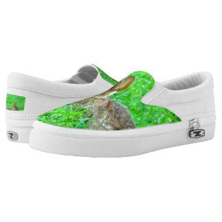 Bunny Sneakers Bunny in green grass slip on sneaks