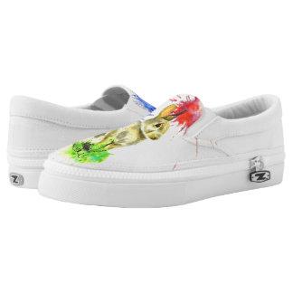 Bunny Splatter Slip-On Sneakers
