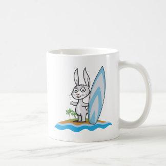 Bunny Surfer Coffee Mug