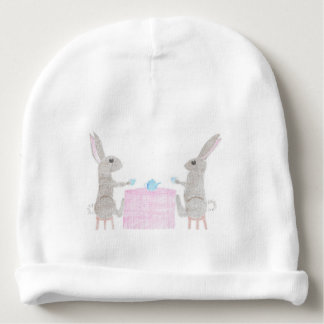 Bunny Tea Party Baby Beanie
