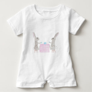 Bunny Tea Party Baby Romper