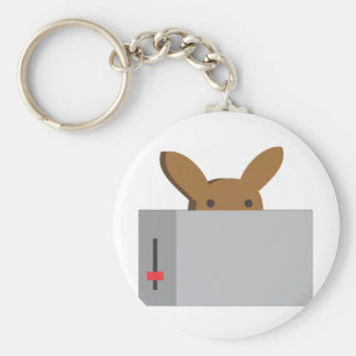 bunny toaster keychain