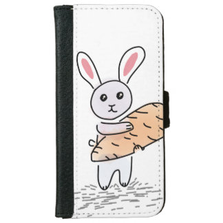 Bunny with a Carrot iPhone 6 Wallet Case