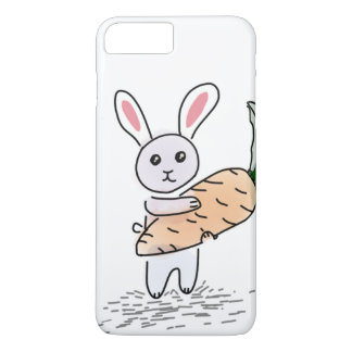 Bunny with a Carrot iPhone 7 Plus Case