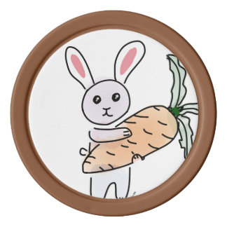 Bunny with a Carrot Set Of Poker Chips