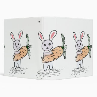 Bunny with a Carrot Vinyl Binders