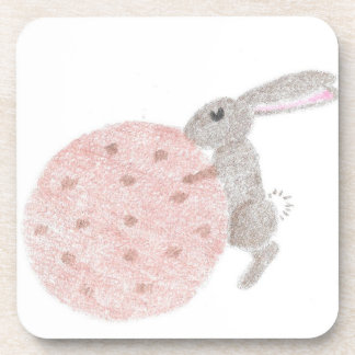 Bunny With A Giant Cookie Coaster