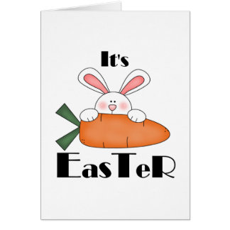 Bunny With Carrot Easter Tshirts and Gifts Card