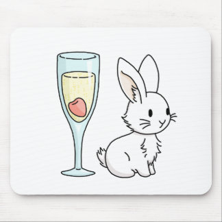 Bunny with Champagne Mouse Pad