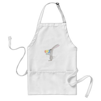 Bunny With Flowers Standard Apron