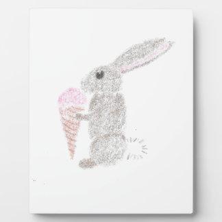 Bunny with Ice Cream Plaque