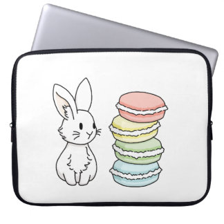 Bunny with Macaroons Laptop Sleeve