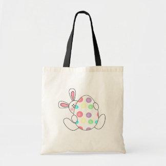 Bunny With Polka Dot Egg Tshirts and Gifts Tote Bag