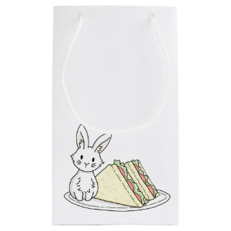 Bunny with Sandwiches Small Gift Bag