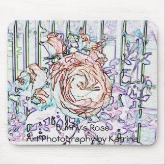 Bunny's Rose Mousepad