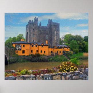Bunratty Castle Art Poster Print