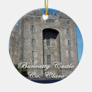 Bunratty Castle, Ireland, Christmas Ornament, Ceramic Ornament