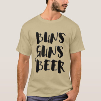 buns guns & beer t-shirt design