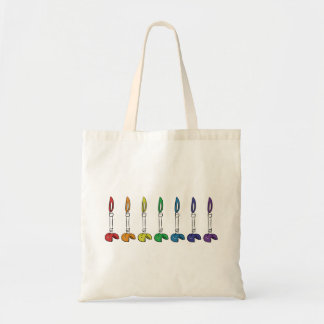 Bunsen Burner Tote Bag Rainbow