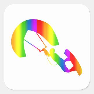 Bunter Kitesurfing Regenbogen Sticker