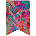 Bunting Banner Colourful Stained Glass