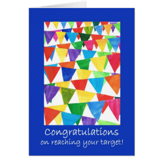 Bunting Congratulations on Reaching Target Card