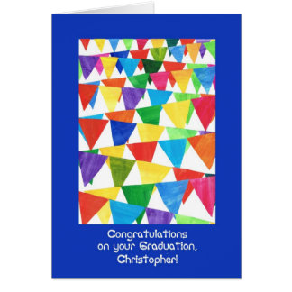 Bunting Graduation Congratulations for Christopher Card