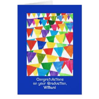 Bunting Graduation Congratulations for William Card