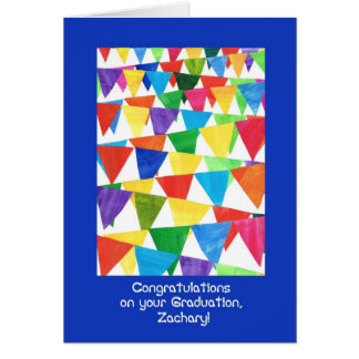 Bunting Graduation Congratulations for Zachary Card