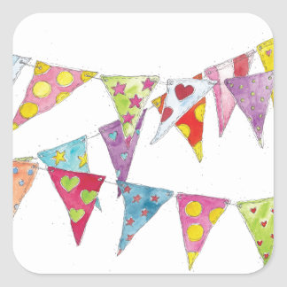Bunting Square Sticker