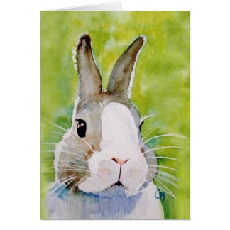 Bunz the cool painted bunny card