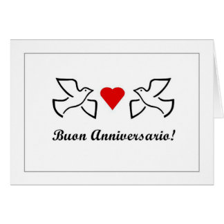 Buon Anniversario - Happy Anniversary in Italiano Card