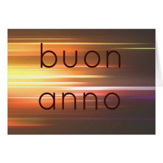 Buon anno greeting card