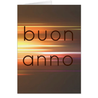Buon anno greeting card