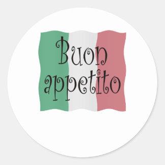 Buon appetito classic round sticker