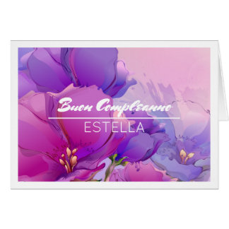 Buon Compleanno Custom Name Birthday Cards