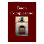 """BUON COMPLEANNO"" ITALIAN BIRTHDAY GREETING CARD"
