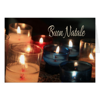 Buon Natale  Burning candles christmas Card