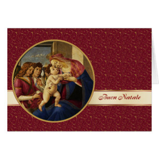 Buon Natale. Carte de Noël italienne de beaux-arts