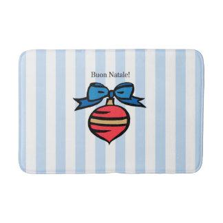 Buon Natale Diamond Medium Bath Mat Blue