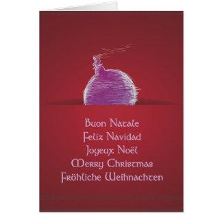 Buon Natale Feliz Navidad Joyeux Noël Card