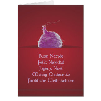 Buon Natale Feliz Navidad Joyeux Noël Greeting Card