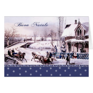 Buon Natale. Italian Christmas Greeting Cards